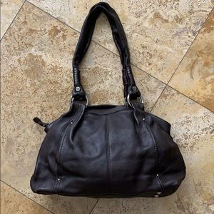 Brown over the shoulder Tignanello leather purse